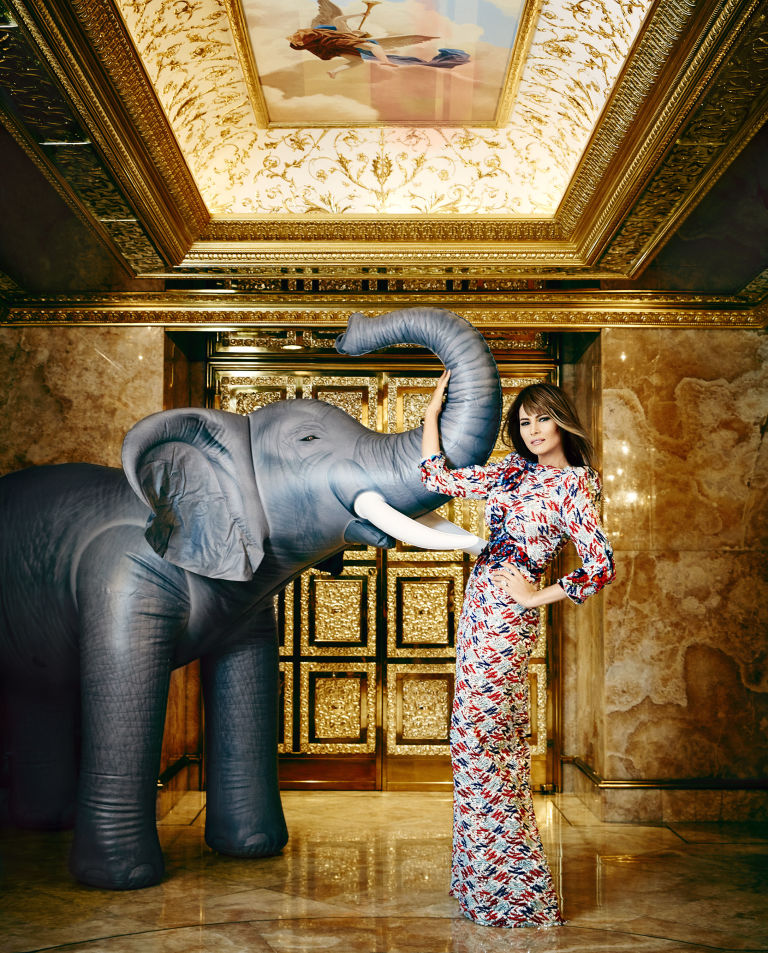 Melania Trump apartment elephant